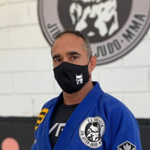 Máscara oficial da Cia Paulista BJJ